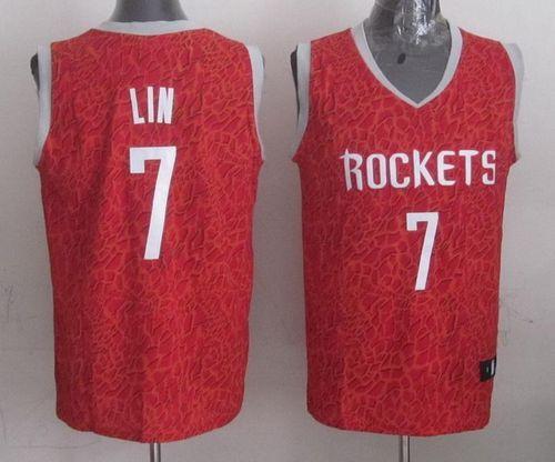Rockets  7 Jeremy Lin Red Crazy Light Stitched NBA Jersey  a1d3a54ce