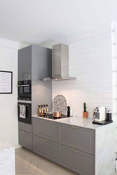 Gray Kitchen With Marble Part 87
