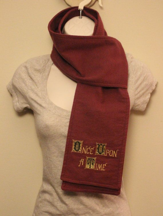 Once Upon a Time Inspired Henry's Book Burgundy Flannel Scarf on Etsy, $15.00