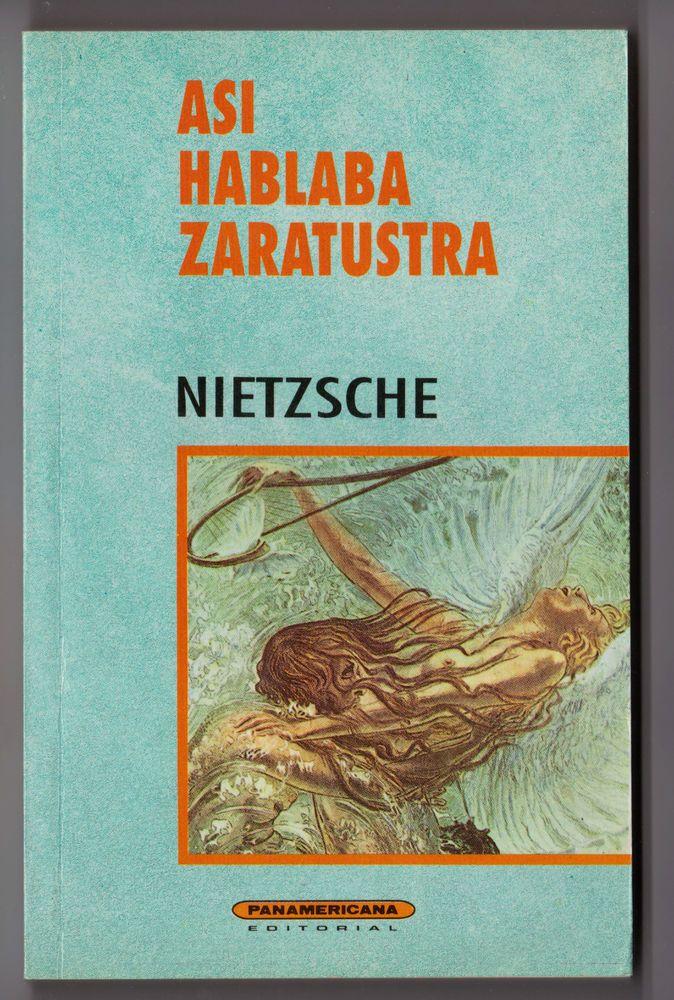 "Friedrich Nietzsch ""Asi Hablaba Zaratustra""  Spanish Edition Libro Español"