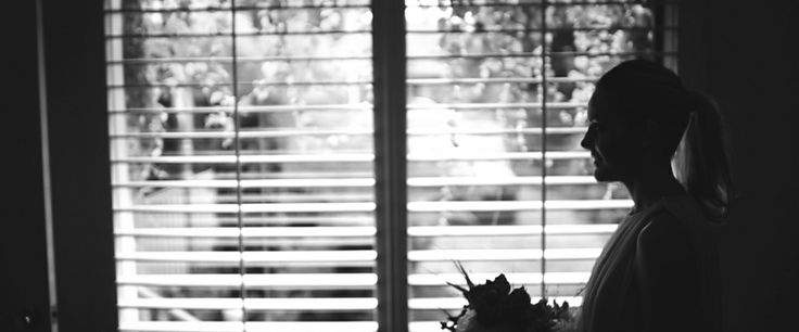 Wedding Silhouette // A nice one of Liz posing for a few photos by her window before heading off to the church