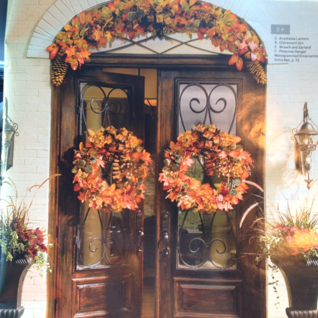 Front Door Decorations. Love The Double Wreath Idea, But Maybe With A  Square Shape