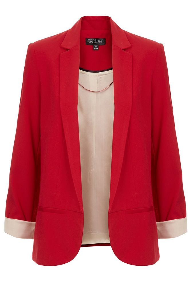 ♥ NEW Topshop Red Structured Blazer Jacket ASOS SOLD OUT 8 10 12 14 16 RRP £65 ♥ in Clothes, Shoes & Accessories | eBay