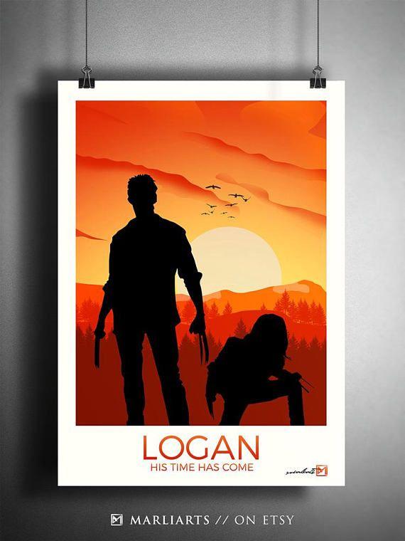 Logan Wolverine Minimalistische Kunst Kunstwerk