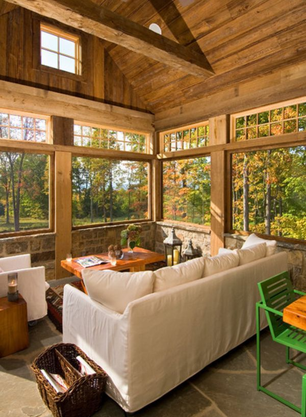 Best 25 rustic sunroom ideas on pinterest barn doors for Large windows for sunroom