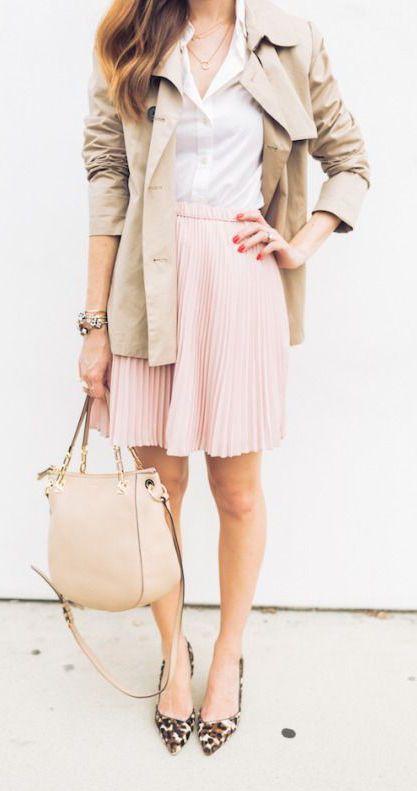 #street #style / pastel pink skirt + jacket