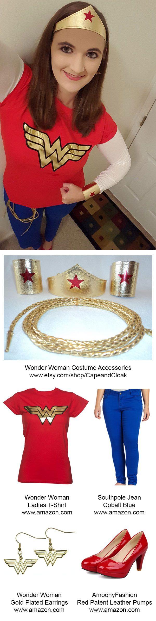 "Easy DIY ""modern"" Wonder Woman Halloween Costume"