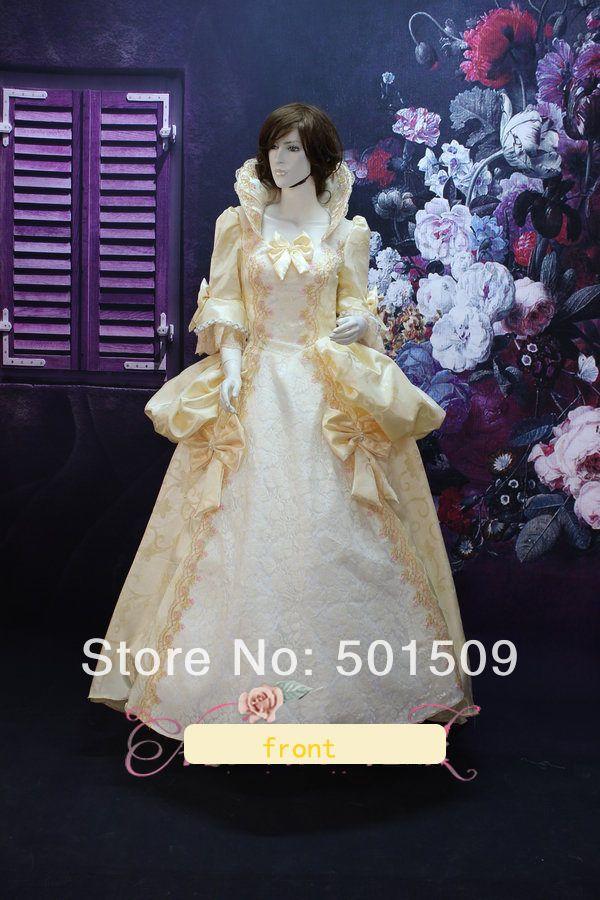 Вышивка вентилятор воротник средневековом платье эпохи возрождения платье королева платье викторианской cosply готический / мария-антуанетта / бальное платье белль бальное