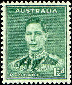 Australia -- King George VI -- ½d green