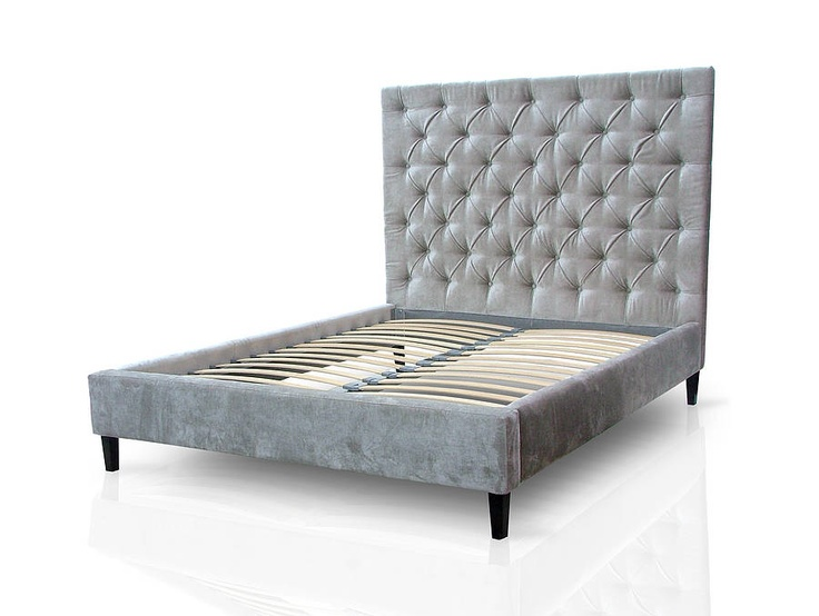 'Isabella' high headboard £795 from notonthehighstreet. Comes in a blue velvet too