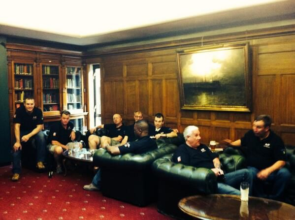 Project Gemini veterans unwinding after a busy day at the Union Jack Club  #ProjectGemini #BlindVeteransUK