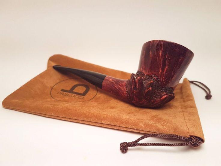 PIPA ITALIANA MARRONE INTARSIATA PASCUCCI, SMOKING BRIAR PIPE, PFEIFE