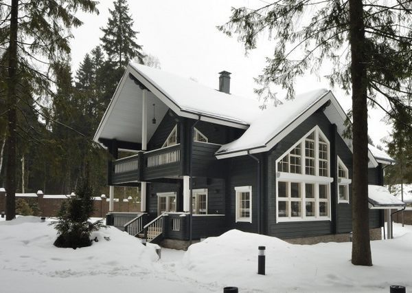 Деревянный дом в скандинавском стиле
