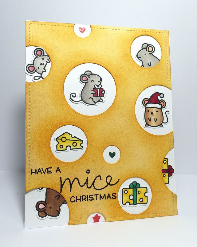 Lawn Fawn - Simon Says Stamp Exclusive Merry Christmouse _ cute cheesy card by Jess {jayenbe} via Flickr