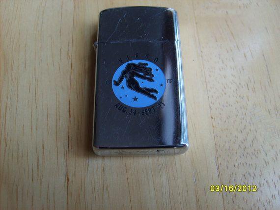 Zippo Slim Lighter Virgo 1971 Astrology Vintage Cigarette Lighter on Etsy, $115.00