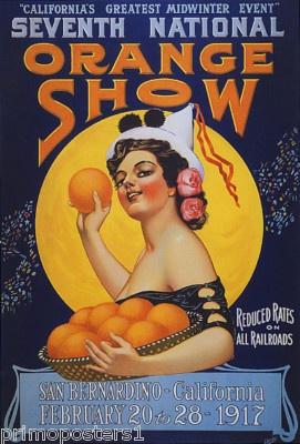 1917 San Bernardino California Orange Show Retro Poster | eBay
