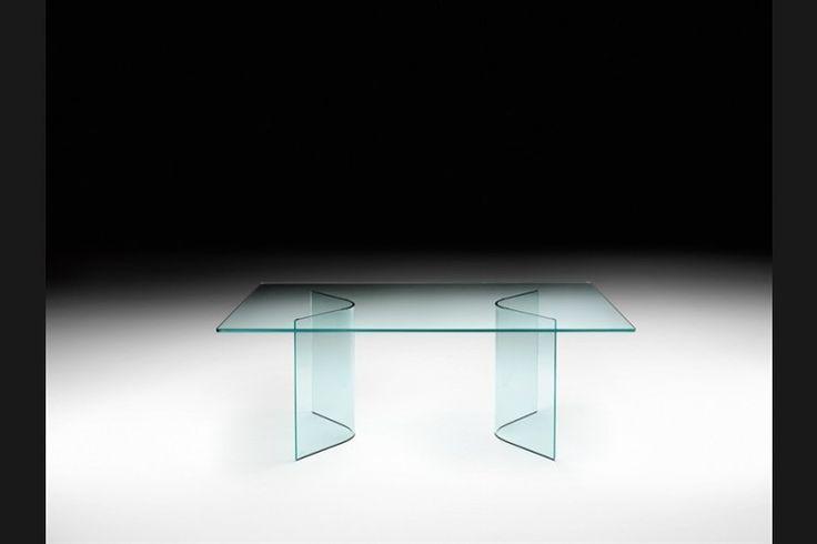 GlazenDesignTafel.nl | Glazen eettafel Angoli | FIAM | Italian design | Glass table by CRS FIAM | vidre glastoepassingen, Leiden