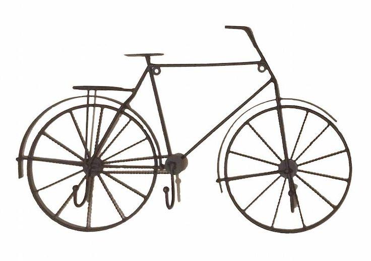 O Cabideiro Bicicleta 3 Ganchos é charmoso, moderno e descolado. Vai dar um toque de modernidade na parede do seu quarto ou sala e vai te ajudar a organizar suas coisas. Pode ser usado para pendurar bolsas, roupas, toalhas ou o que mais você conseguir imaginar.  Material: ferro marrom rústico Dimensões: 51x32x5 cm Produto importado