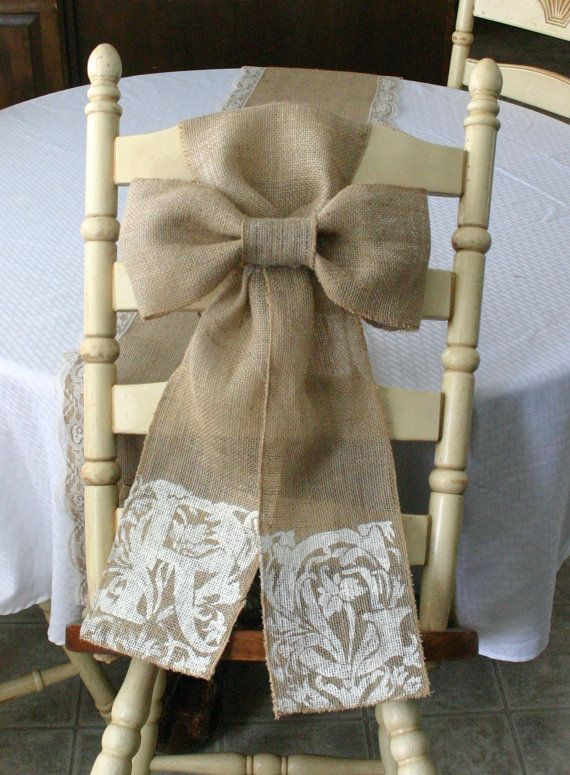 25 Best Ideas About Burlap Chair Sashes On Pinterest
