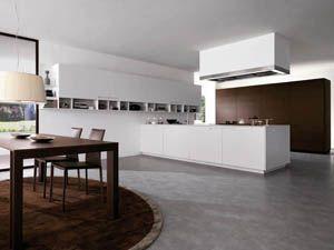 european modern kitchens modern kitchen design modern italian kitchens - Galeere Kche Einbauleuchten Platzierung