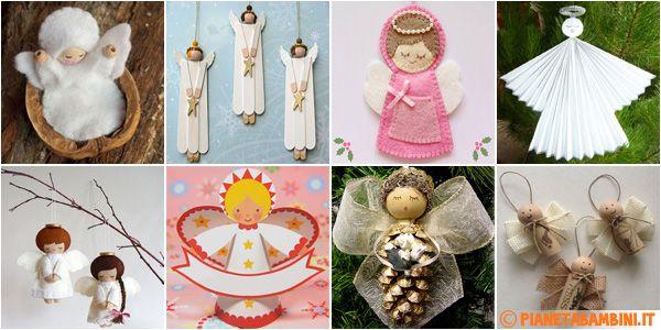Tante idee per realizzare angioletti fai da te con diversi materiali per decorazioni di casa e scuola, 22 lavoretti natalizi adatti anche ai bambini