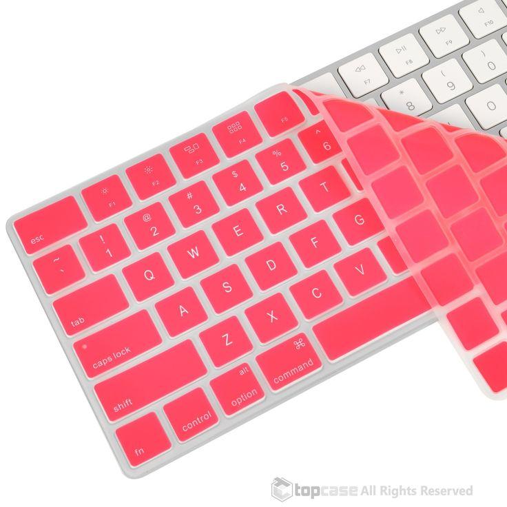 Apple Magic Keyboard Pink Ultra Thin Soft Silicone Keyboard Cover Skin for Magic Keyboard MLA22LL/A US Keyboard Layout