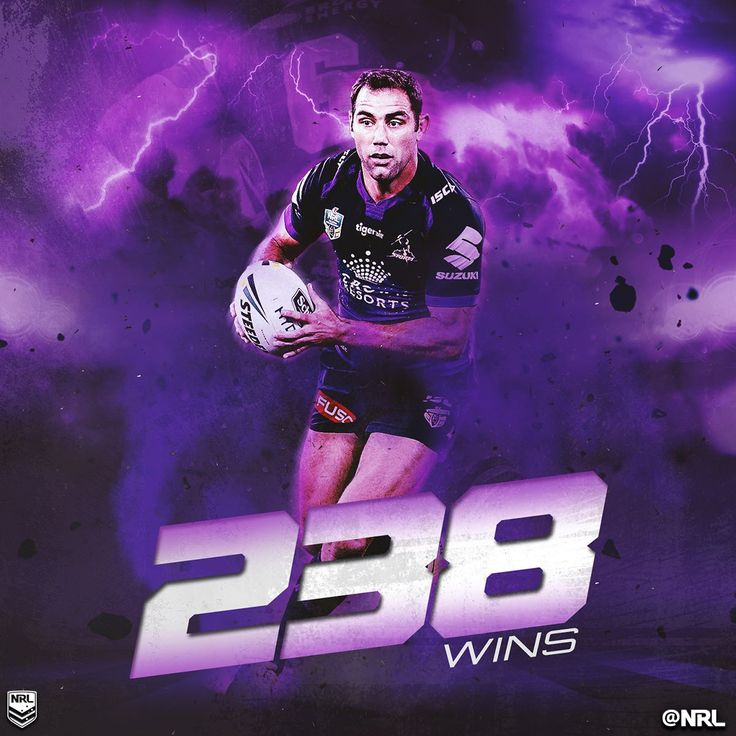 Cameron Smith has now overtaken Darren Lockyer for the most wins in #NRL history.  His win percentage is an amazing 70%!