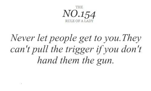 Don't hand them the gun