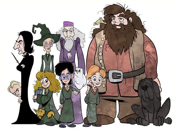 Harry potter hermione ron weasley hagrid dumbledore