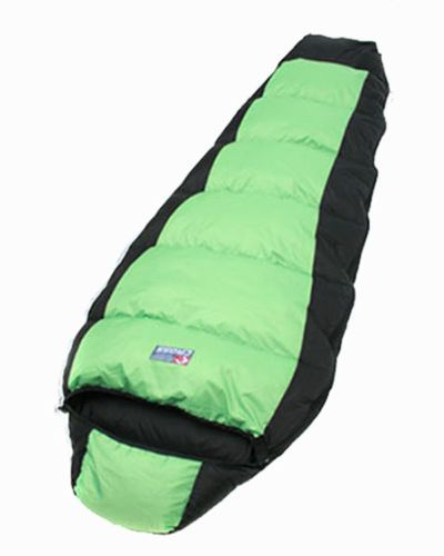 Cold 3 Season Duck Down Sleeping Bag Camping Hiking Travel Quilt Outdoor Green