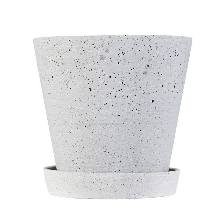 Flower Pot krukke S, grå i gruppen Indretningsdetaljer / Dekoration / Vaser & Krukker hos ROOM21.dk (124395)