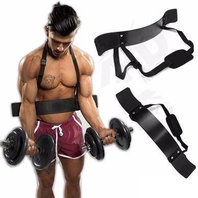 From 10.99 Tnp Accessories Weight Lifting Arm Bicep Blaster Isolator Curl Bomber Gym Bar Training Neoprene Support Straps