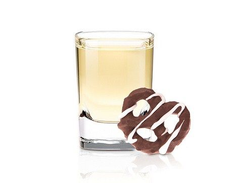 Chocolate Covered Pretzel Shot. 1 oz Frangelico, 1 oz Pinnacle Whipped, Lick salt then take shot!