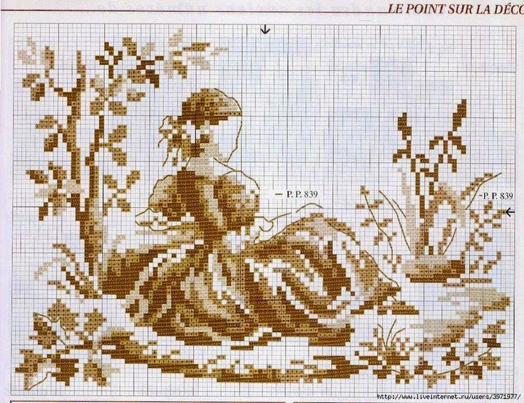 Хобби женские работы - вышивка - вязание крючком - трикотаж: вышивка крестом