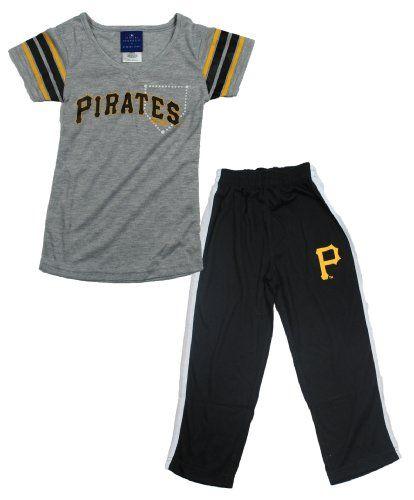 8a4a3720 OuterStuff MLB Pittsburgh Pirates Girls 2-piece Sleepwear Pants and Shirt