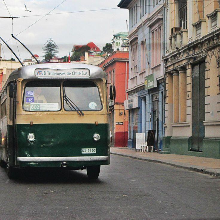 Trolebus - Valparaíso - Chile - Mochilão América do Sul