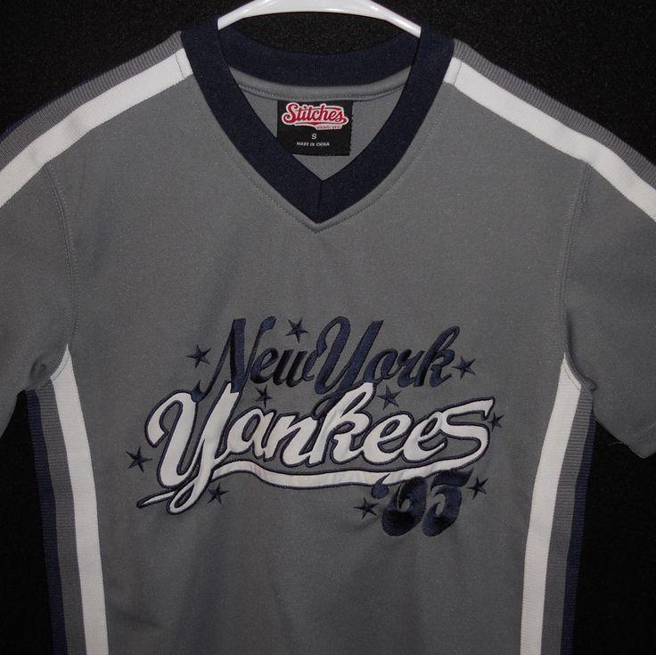 New York Yankees Youth Baseball Jersey Small Stitches #Stitches #NewYorkYankees