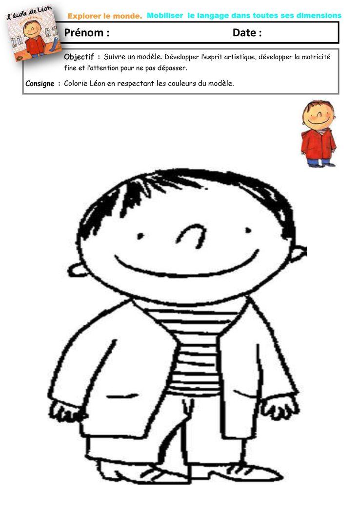 coloriage Léon. Album l'école de Léon