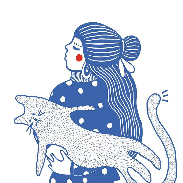 Best thing to do in the morning:  cuddle a grumpy cat 🐋 #newwork #grumpy #cat #illustration