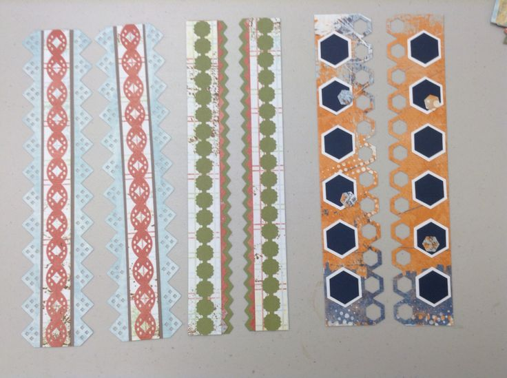 Borders made with Creative Memories papers and border maker system