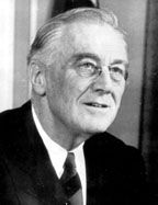"""Franklin Delano Roosevelt. """"This great Nation will endure as it has endured, will revive and will prosper. So, first of all, let me assert my firm belief that the only thing we have to fear is fear itself — nameless, unreasoning, unjustified terror which paralyzes needed efforts to convert retreat into advance."""" - 1933"""