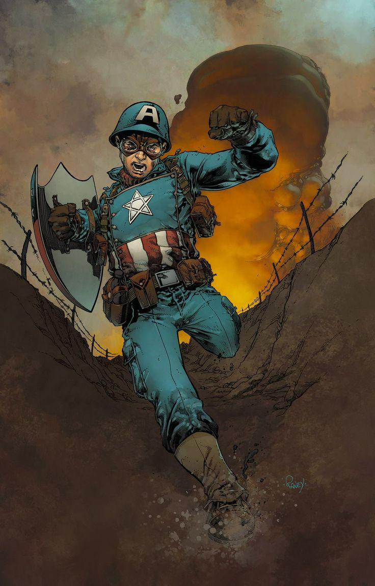 Captain America by Tom Raney, colours by Mike Spicer *