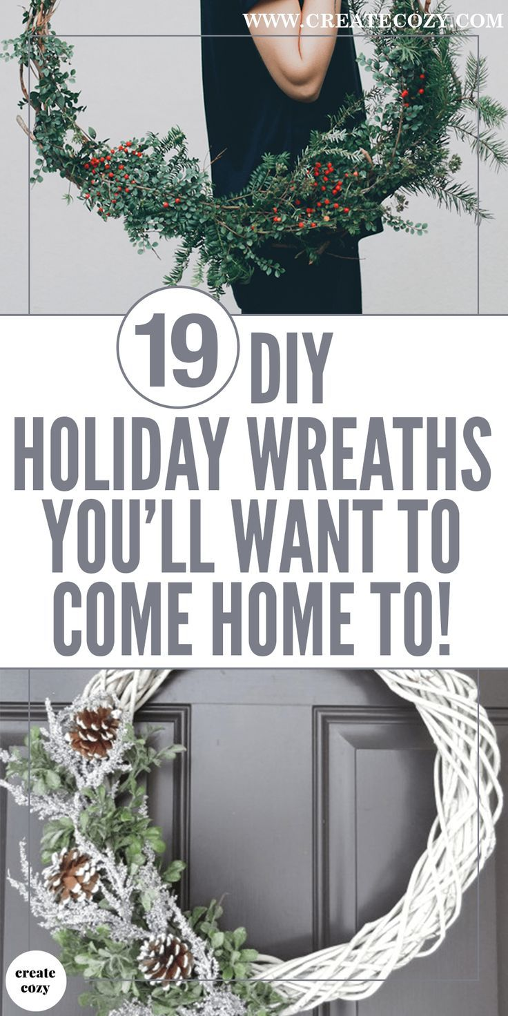 19 beautiful DIY holiday wreaths to welcome you home | All Things ...
