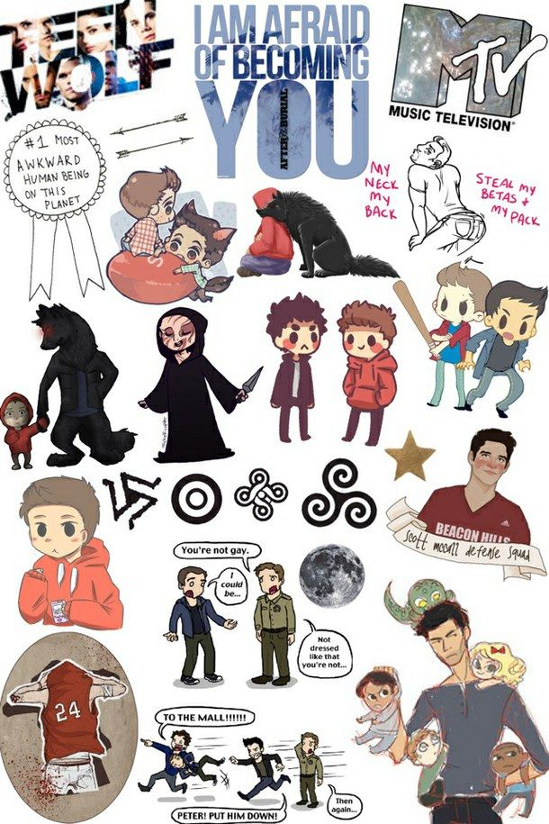 collage, cool, fandom, hipster, mtv, overlays, stickers, teen wolf, transparent, tumblr, wallpaper, beacon hills