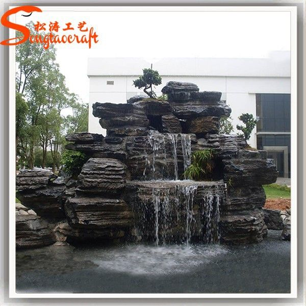 Source China Water Fountain Factory Indoor Artificial Waterfall