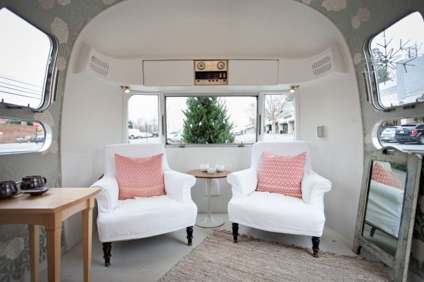 Inside A Remodeled Airstream Rv Ing Pinterest Carlo Scarpa Seating Areas And Camper