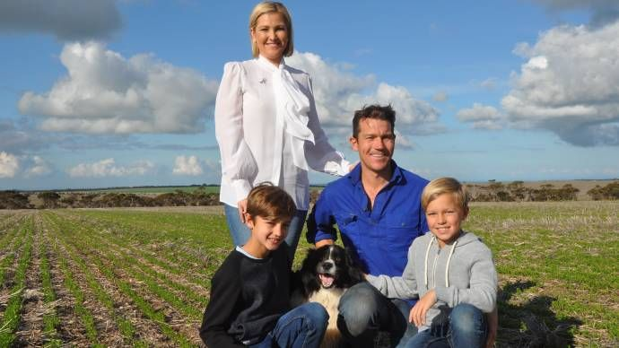 CANCER AMBASSADOR: Ovarian Cancer Australia and Ovarian Cancer Research Foundation ambassador Letitia Linke with husband Paul and sons Tommy and Ollie on their…
