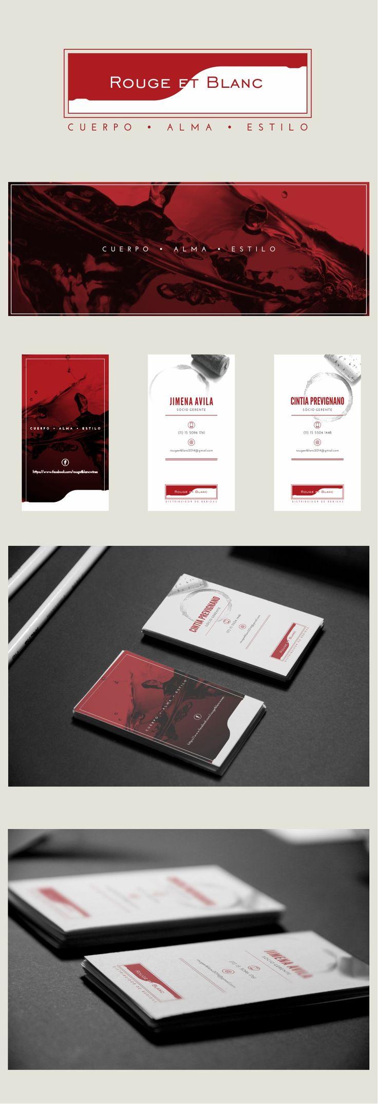 ROUGE ET BLANC   Distribuidora de Vinos   Marca + Portada FB + Brand + Tarjetas Personales / FB Profile + Personal Cards