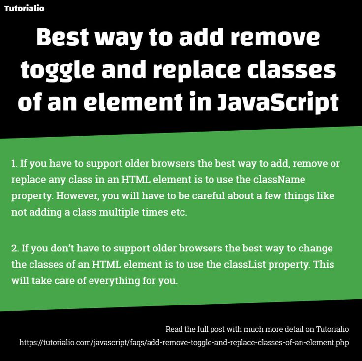 Best way to add remove toggle and replace classes of an element in JavaScript #webdevelopment #tutorials #JavaScript #faqs