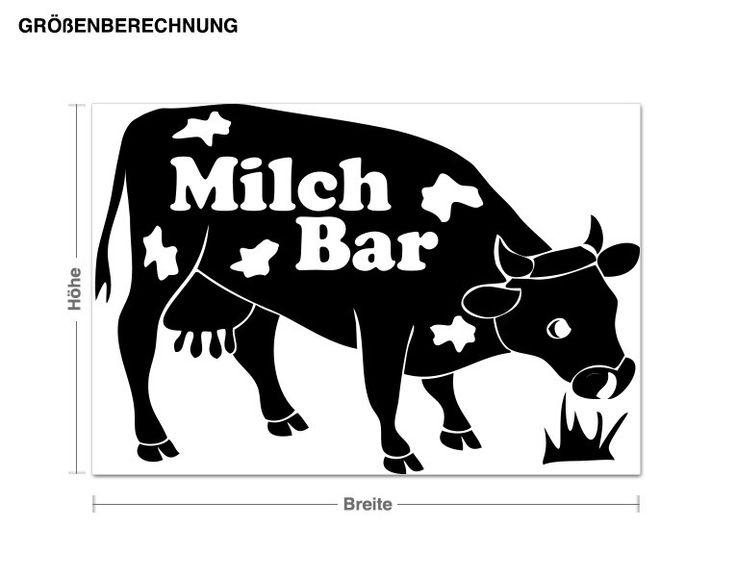 Wandtattoo MilchBar Wandtattoos Küche & Genuss Kühlschrank & Deko